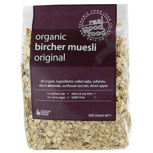 Real Good Food Organic Bircher Muesli (Bag) 500g
