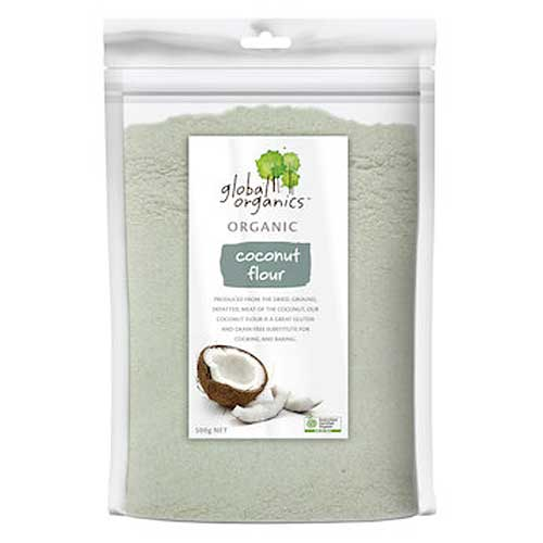 GLOBAL ORGANICS Organic Coconut Flour 500g