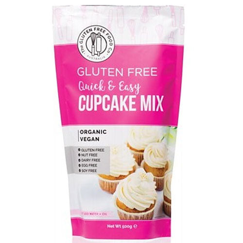 THE GLUTEN FREE FOOD CO Organic Cupcake Mix Quick & Easy 500g