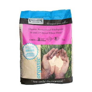 KIALLA Organic Kamut Stoneground Wholegrain Flour 1kg