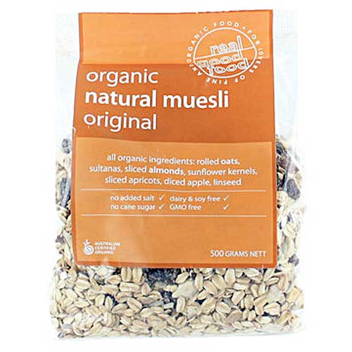 Real Good Food Organic Muesli Natural 500g