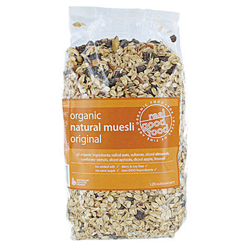 REAL GOOD FOOD Organic Muesli Natural with Fruit 1.25kg