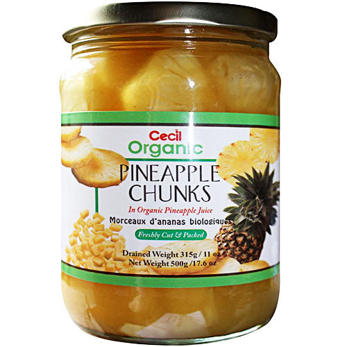 CECIL ORGANIC Pineapple Chunks 500g