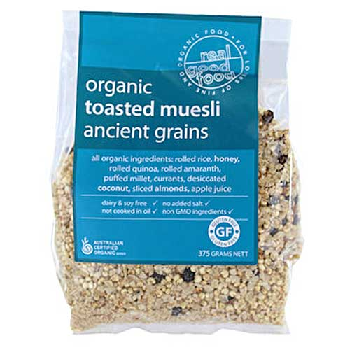 Real Good Food Organic Toasted Muesli Ancient Grain 375g