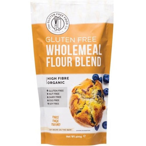 THE GLUTEN FREE FOOD CO Organic Wholemeal Flour Blend Mix 400g