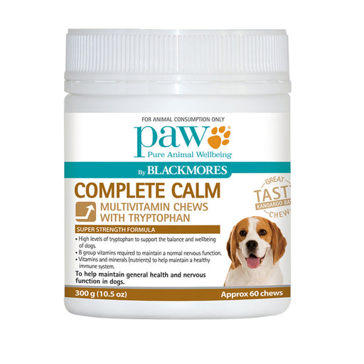PAW By Blackmores Complete Calm Multivitamin Chews with Tryptophan, approx 60, 300g