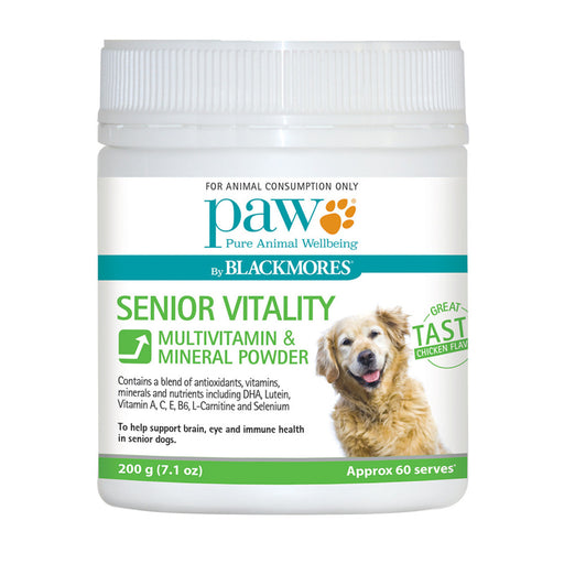 PAW By Blackmores Senior Vitality (Multivitamin & Mineral Powder, approx 60 serves) 200g