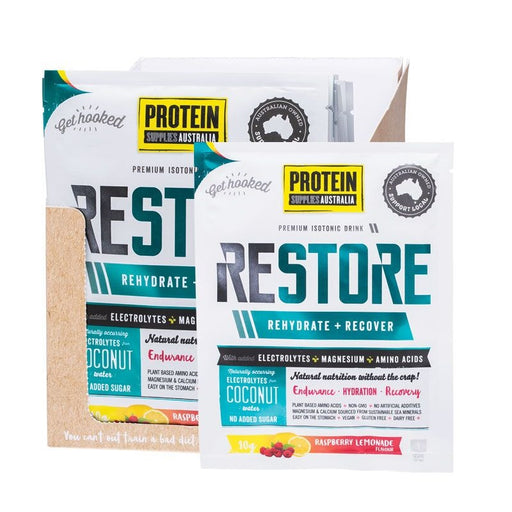 Protein Supplies Australia Restore Hydration Recovery Drink Raspberry Lemonade