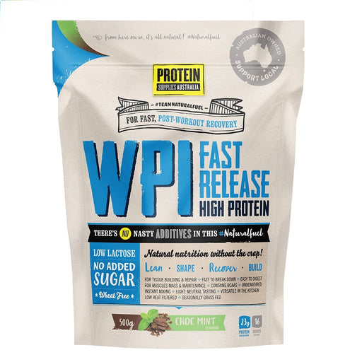 Protein Supplies Australia Choc Mint WPI - Whey Protein Isolate 500g