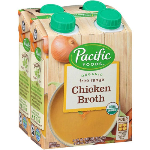 Pacific Foods Organic 4 Pk Free Range Chicken Stock