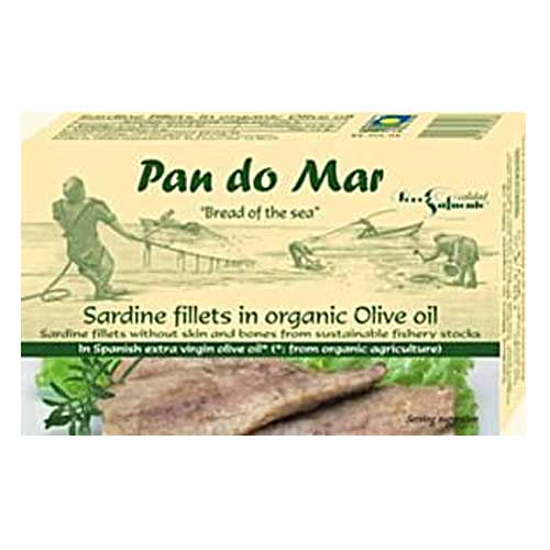 PAN DO MAR Sardine Fillets in Organic Olive Oil 120g Gluten Free