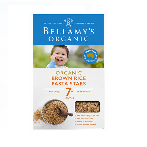 Bellamys Organic Brown Rice Pasta Stars