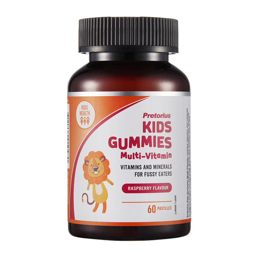 Pretorius Kids Raspberry Flavour Gummies Multi-Vitamin 60