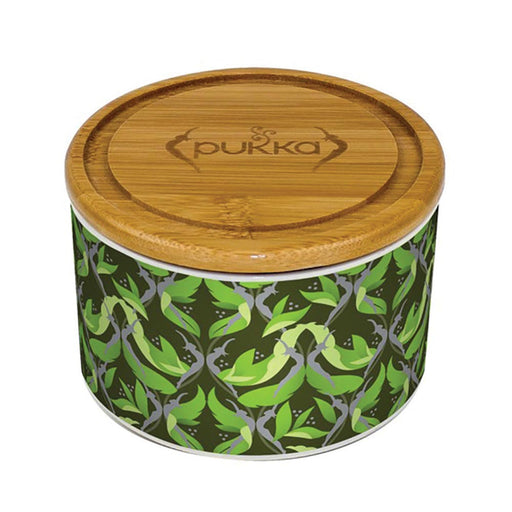 Pukka Ceramic Bamboo Tea Caddy Supreme Matcha