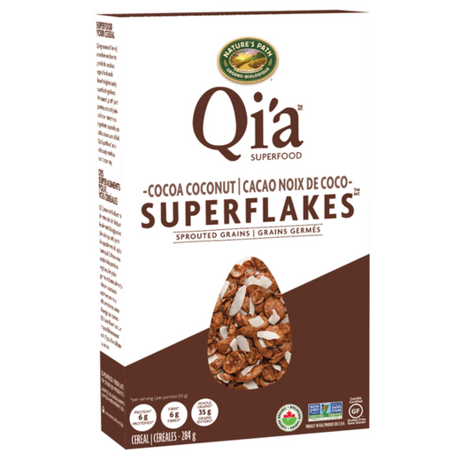 Nature`s Path Qi'a Sprouted Grains Superflakes - Cocoa Coconut