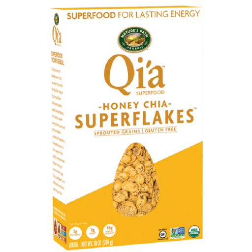 Nature`s Path Qi'a Sprouted Grains Superflakes - Honey Chia