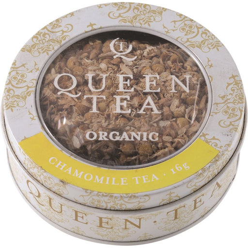 Queen Tea Organic Chamomile Tea Tin 16g
