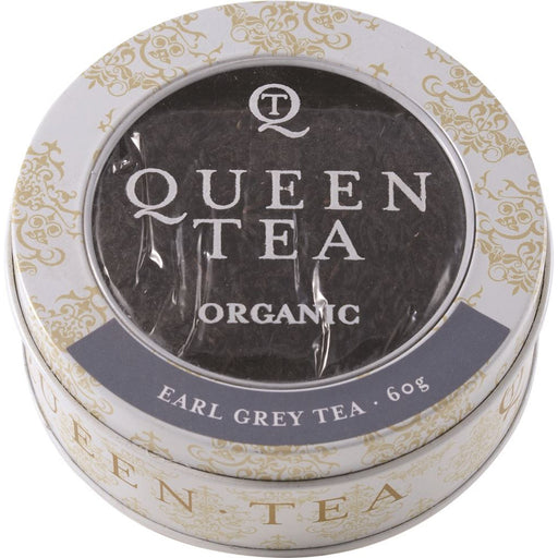 Queen Tea Organic Earl Grey Tea Tin 60g