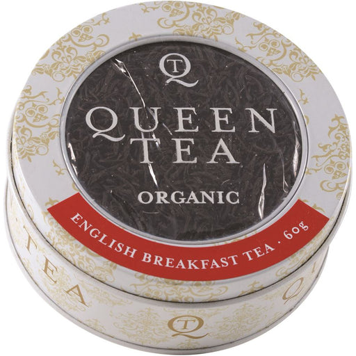 Queen Tea Organic English Breakfast Tea Tin 60g