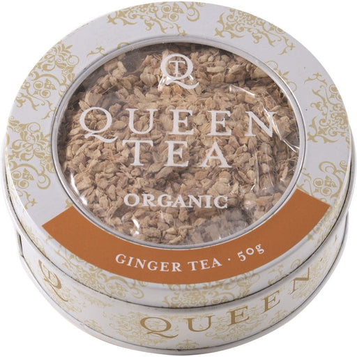 Queen Tea Organic Ginger Tea Tin 50g
