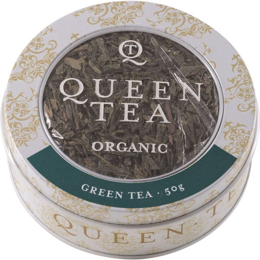 Queen Tea Organic Green Tea Tin 50g