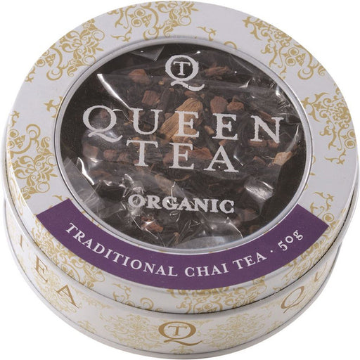 Queen Tea Organic Traditional Chai Tea Tin 50g