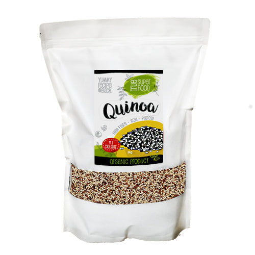 Organic Tri Coloured Quinoa 2kg