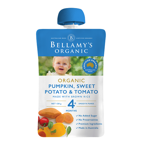 Bellamys Organic Pumpkin, Sweet Potato and Tomato