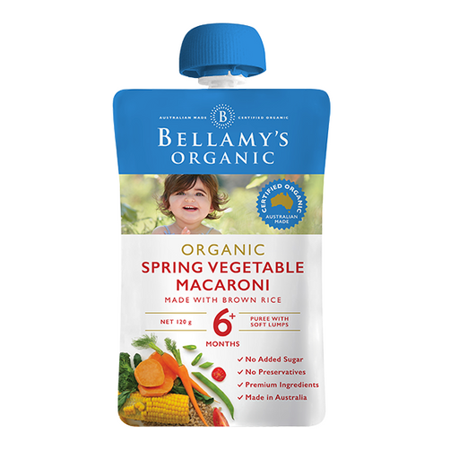 Bellamys Organic Spring Vegetable Macaroni