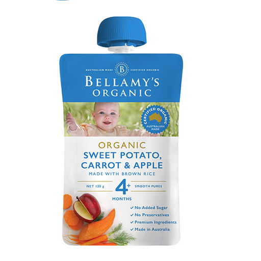 Bellamys Organic Sweet Potato Carrot and Apple