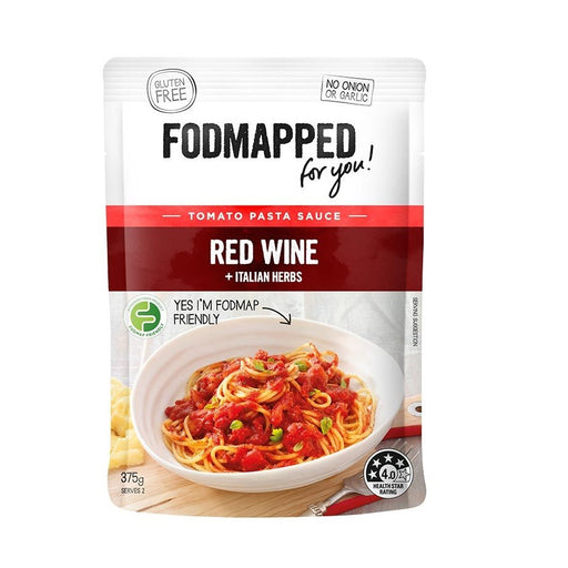 Fodmapped Red Wine and Italian Herbs Pasta Sauce