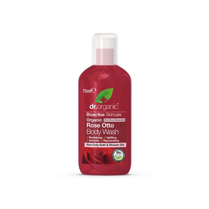 DR ORGANIC Travel Size - Body Wash Organic Rose Otto 75ml