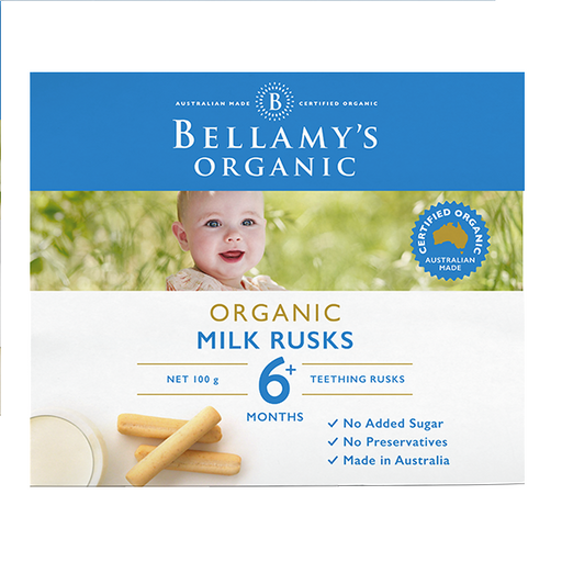 Bellamys Organic Milk Rusks - Toothiepegs