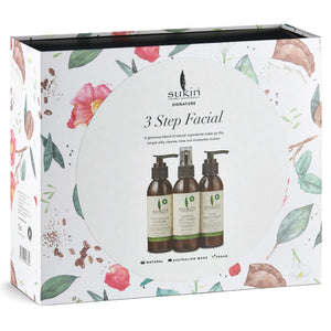 Sukin 3 Step Facial Pack - Gift Set Front