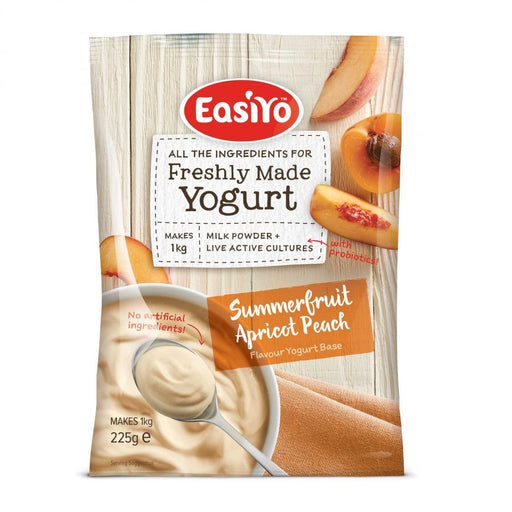 Easiyo Everyday Range Summer Fruits Apricot and Peach Yoghurt