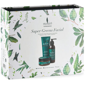 Sukin Super Greens Facial Kit Front