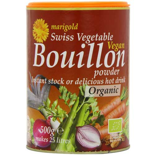 MARIGOLD Organic Vegetable Stock Swiss Vegan Bouillon Powder 500g