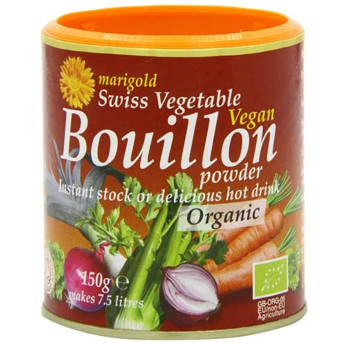 Marigold Organic Vegetable Stock Swiss Vegan Bouillon 150g