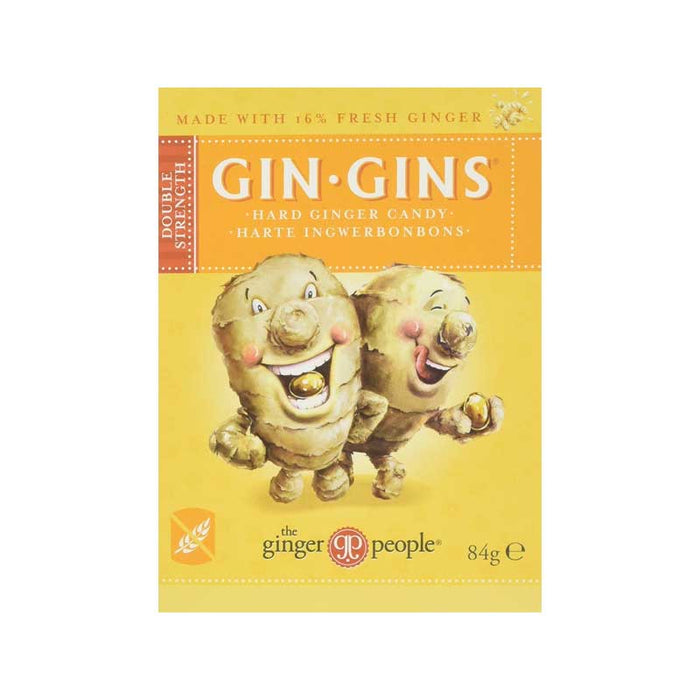 THE GINGER PEOPLE Double Strength Gin Gins Ginger Candy Hard 84g