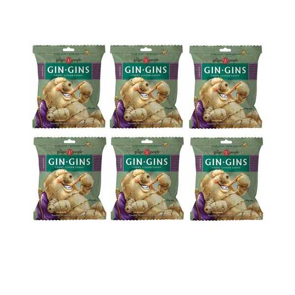 THE GINGER PEOPLE Original Gin Gins Ginger Candy Bag 60g 6 Packs