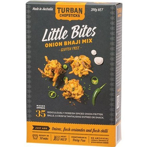 TURBAN CHOPSTICKS Little Bites Onion Bhaji Mix 200g