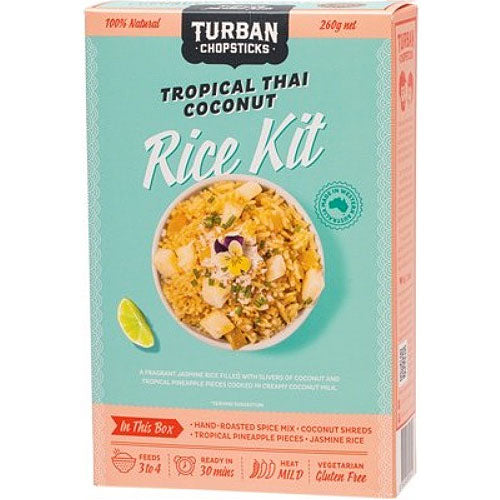 TURBAN CHOPSTICKS Rice Kit Tropical Thai Coconut 260g