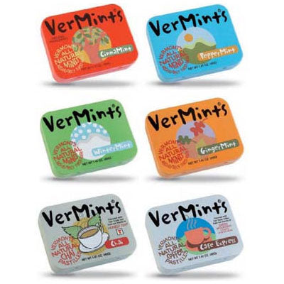 Vermints All Flavours Variety Organic Mints 6-Pack