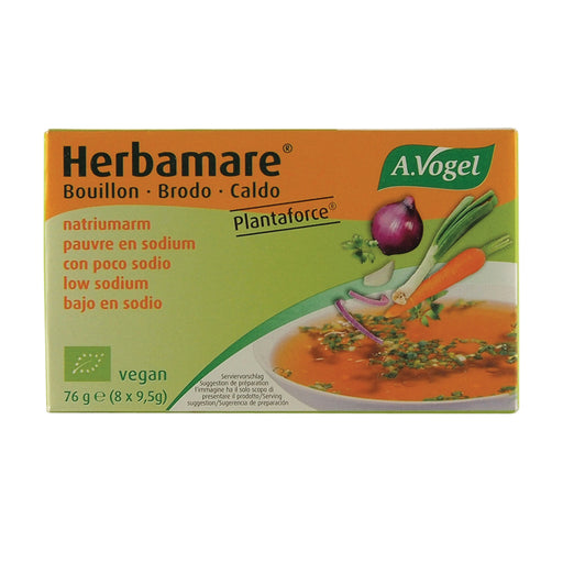 Vogel Herbamare Bouillon Vegetable Stock Cubes Low Sodium (9.5g x 8) Pack
