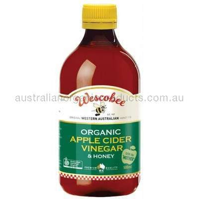 "WESCOBEE Organic Apple Cider Vinegar and Honey With The ""Mother"" 500ml"