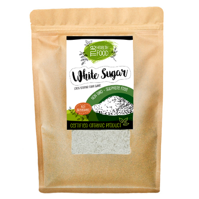 AOP Certified Organic White Sugar Unrefined & Raw