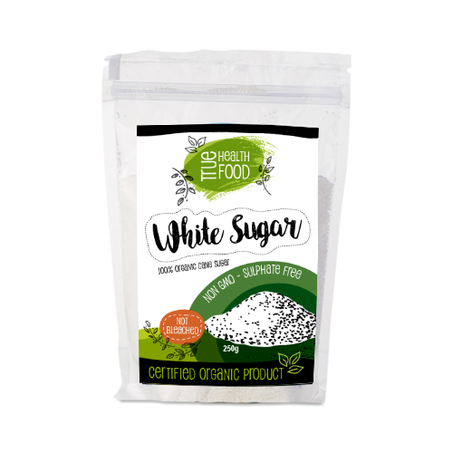 AOP Organic White Sugar Cane Unrefined 250g