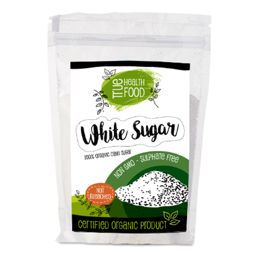 AOP Organic White Sugar Cane Unrefined 500g