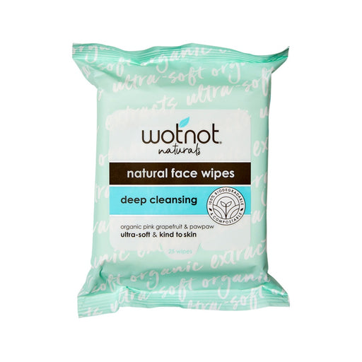 Wotnot Facial Wipes Deep Cleansing x 25 Pack (soft pack)