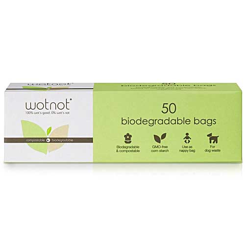 WOTNOT 100% Compostable Eco Nappy Bags 50 pack